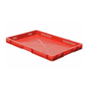 Transportkrat Euronorm plastic bak, krat TK2 600x400x50 rood