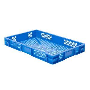Transportkrat Euronorm plastic bak, krat TK2 600x400x75 blauw