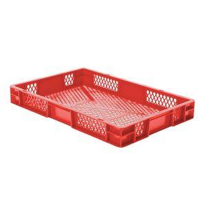 Transportkrat Euronorm plastic bak, krat TK2 600x400x75 rood
