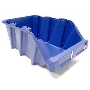 Voordeelverpakking 10 Begra stapelbare en nestbare kunststof magazijnbakken type S7, 490x310x195 blauw