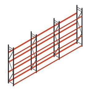 Voordeelrij bandenstelling grootvak AR 3000x6240x500mm (hxbxd) 3 secties 4 niveaus antraciet