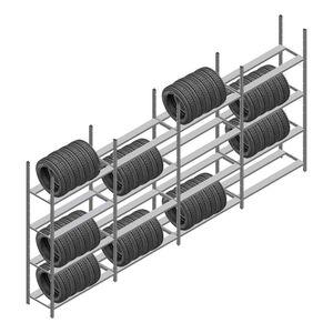 Voordeelrij bandenstelling Medium Duty 2200x4000x600 4 secties 4 niveaus