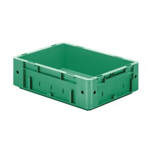 Zware transportkrat Euronorm plastic bak, krat VTK0 400x300x120 groen