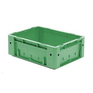 Zware transportkrat Euronorm plastic bak, krat VTK0 400x300x145 groen