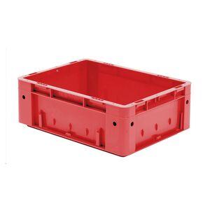 Zware transportkrat Euronorm plastic bak, krat VTK0 400x300x145 rood