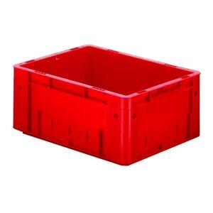 Zware transportkrat Euronorm plastic bak, krat VTK0 400x300x175 rood