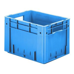 Zware transportkrat Euronorm plastic bak, krat VTK0 400x300x270 blauw