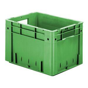 Zware transportkrat Euronorm plastic bak, krat VTK0 400x300x270 groen