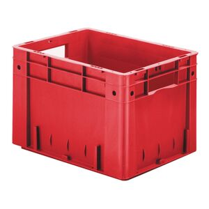 Zware transportkrat Euronorm plastic bak, krat VTK0 400x300x270 rood