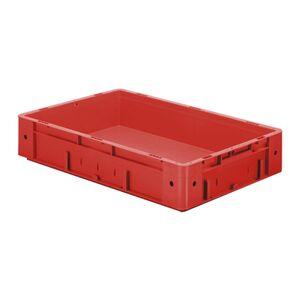 Zware transportkrat Euronorm plastic bak, krat VTK0 600x400x120 rood