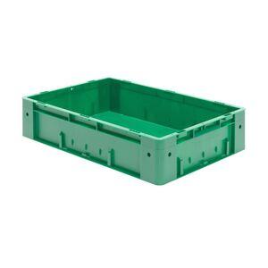 Zware transportkrat Euronorm plastic bak, krat VTK0 600x400x145 groen