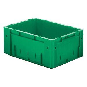Zware transportkrat Euronorm plastic bak, krat VTK0 600x400x175 groen