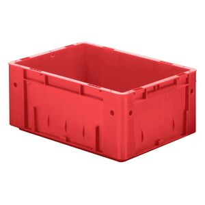 Zware transportkrat Euronorm plastic bak, krat VTK0 600x400x175 rood