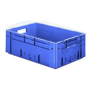 Zware transportkrat Euronorm plastic bak, krat VTK0 600x400x210 blauw