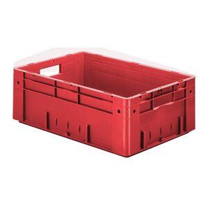 Zware transportkrat Euronorm plastic bak, krat VTK0 600x400x210 rood