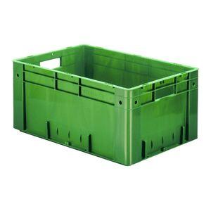 Zware transportkrat Euronorm plastic bak, krat VTK0 600x400x270 groen