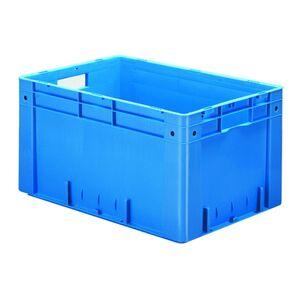 Zware transportkrat Euronorm plastic bak, krat VTK0 600x400x320 blauw