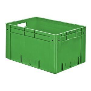 Zware transportkrat Euronorm plastic bak, krat VTK0 600x400x320 groen