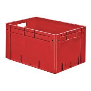 Zware transportkrat Euronorm plastic bak, krat VTK0 600x400x320 rood