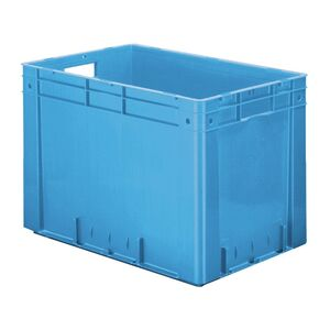 Zware transportkrat Euronorm plastic bak, krat VTK0 600x400x420 blauw