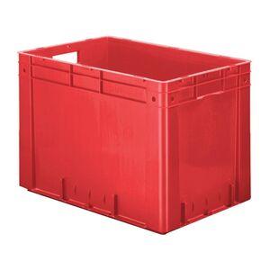 Zware transportkrat Euronorm plastic bak, krat VTK0 600x400x420 rood