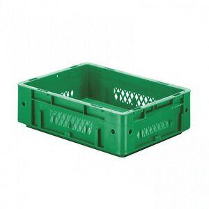 Zware transportkrat Euronorm plastic bak, krat VTK1 400x300x120 groen