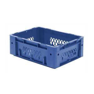Zware transportkrat Euronorm plastic bak, krat VTK1 400x300x145 blauw