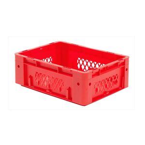 Zware transportkrat Euronorm plastic bak, krat VTK1 400x300x145 rood