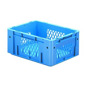 Zware transportkrat Euronorm plastic bak, krat VTK1 400x300x175 blauw