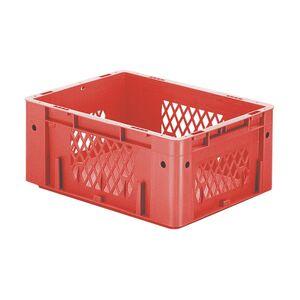 Zware transportkrat Euronorm plastic bak, krat VTK1 400x300x175 rood