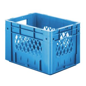 Zware transportkrat Euronorm plastic bak, krat VTK1 400x300x270 blauw
