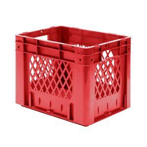 Zware transportkrat Euronorm plastic bak, krat VTK1 400x300x320 rood