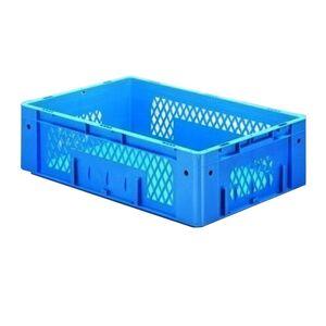 Zware transportkrat Euronorm plastic bak, krat VTK1 600x400x175 blauw