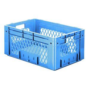Zware transportkrat Euronorm plastic bak, krat VTK1 600x400x270 blauw