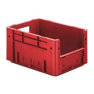 Zware transportkrat Euronorm plastic bak, krat VTK4 400x300x210 rood