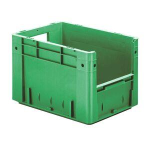 Zware transportkrat Euronorm plastic bak, krat VTK4 400x300x270 groen