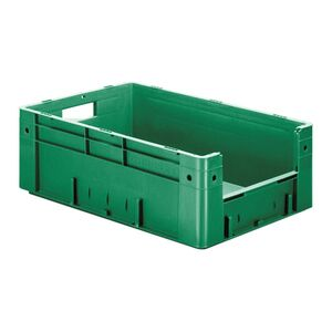 Zware transportkrat Euronorm plastic bak, krat VTK4 600x400x210 groen