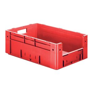 Zware transportkrat Euronorm plastic bak, krat VTK4 600x400x210 rood
