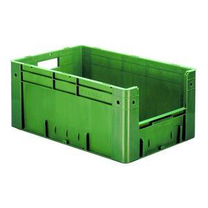 Zware transportkrat Euronorm plastic bak, krat VTK4 600x400x270 groen
