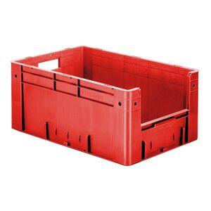 Zware transportkrat Euronorm plastic bak, krat VTK4 600x400x270 rood