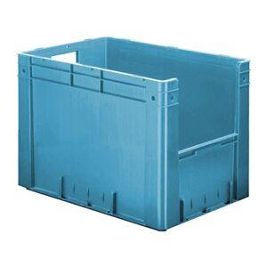 Zware transportkrat Euronorm plastic bak, krat VTK4 600x400x420 blauw
