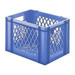 Transportkrat Euronorm plastic bak, krat TK2 400x300x270 blauw