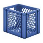 Transportkrat Euronorm plastic bak, krat TK2 400x300x320 blauw