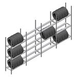 Voordeelrij bandenstelling Medium Duty 2200x4000x600 4 secties 3 niveaus