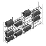 Voordeelrij bandenstelling Medium Duty 2200x4000x600 4 secties 4 niveaus