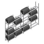 Voordeelrij bandenstelling Medium Duty 2500x4000x600 4 secties 4 niveaus