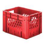 Zware transportkrat Euronorm plastic bak, krat VTK1 400x300x270 rood