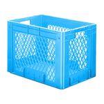 Zware transportkrat Euronorm plastic bak, krat VTK1 600x400x420 blauw